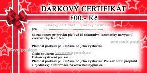 certifikat kosm liceni – vzor